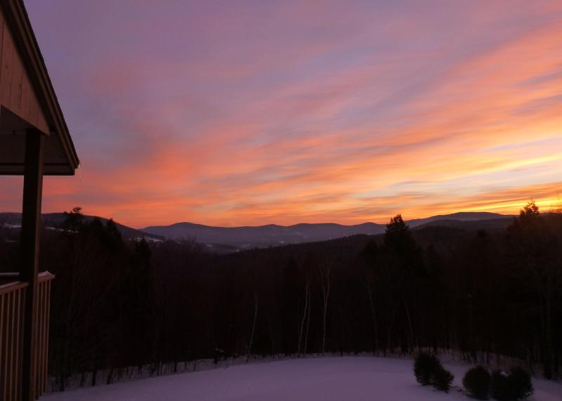 Our view - Sugarbush Snowside 14 - Mad River Valley Sunrise - Fayston - rentals