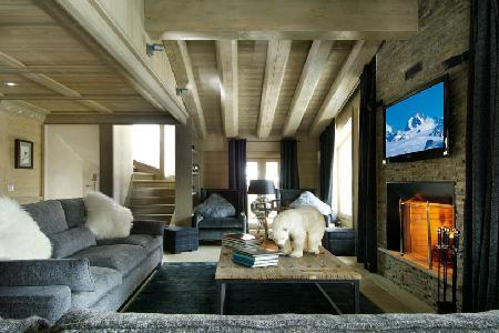 Mountain view Chalet Black Pearl with ski access, fireplace and home theatre - Image 1 - Val d'Isère - rentals