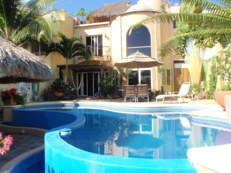 Canal side from the dock - Luxury Canal Front Home Barra De Navidad - Barra de Navidad - rentals