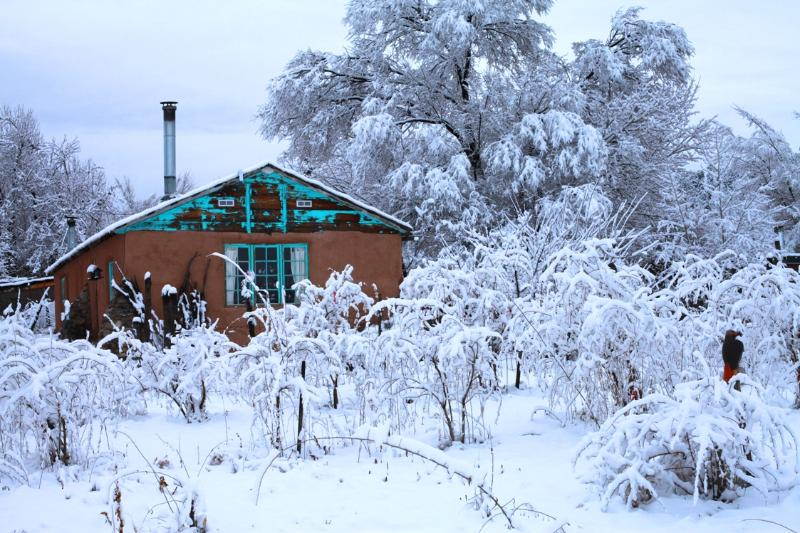 Mountain Eco Cabin: Vista Hermosa, located in between Red River and Taos Ski Valleys - Image 1 - San Cristobal - rentals