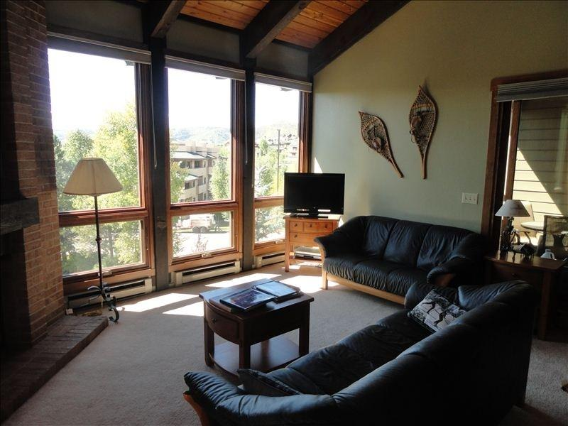 Vaulted ceiling, great view, leather furniture - Walking distance to Gondola. Great views - Steamboat Springs - rentals