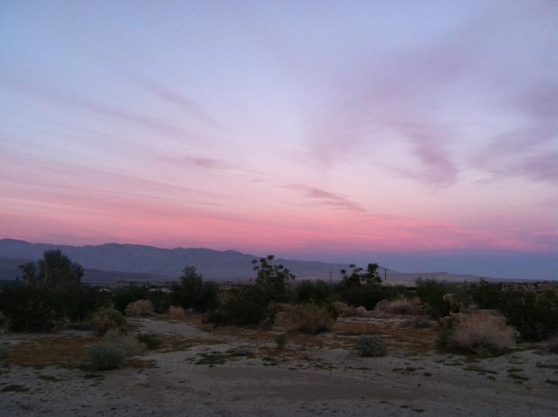 Sunset in the back yard - Quiet Anza Borrego panoramic desert escape - Borrego Springs - rentals