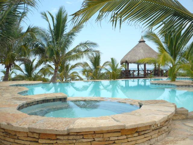 Pool area - Beachfront Villa for Rent - Telchac Puerto - rentals