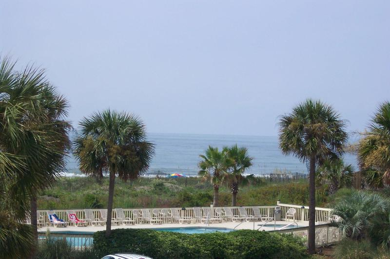 View from the balcony looking at ocean - Oceanfront Charleston A+ Views 10 Mi Hist District - Isle of Palms - rentals