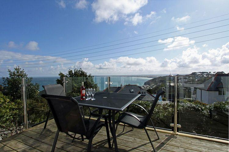 Furnished balcony with far reaching sea views - Whitehorses, St Ives - Saint Ives - rentals