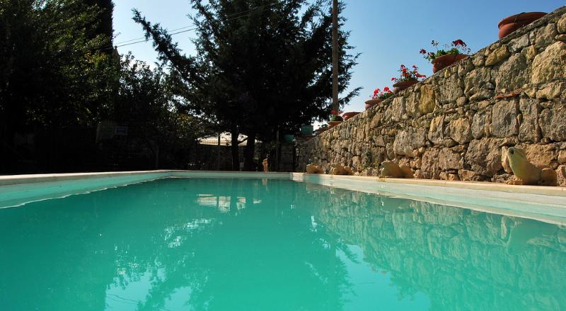 Pool and stone and trees - VILLA FEUDO SICILIANO: wonderful sixteenth century feud with pool, garden, private chapel - Alimena - rentals