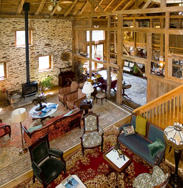 Main Common Room with wood buring stove - Converted Barn on 10 Acre Farm in Bucks County, PA - Perkasie - rentals