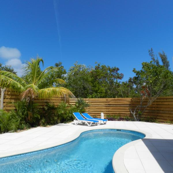 Private 1 bedroom home with swimming pool, short walk to beach - Image 1 - Leeward - rentals
