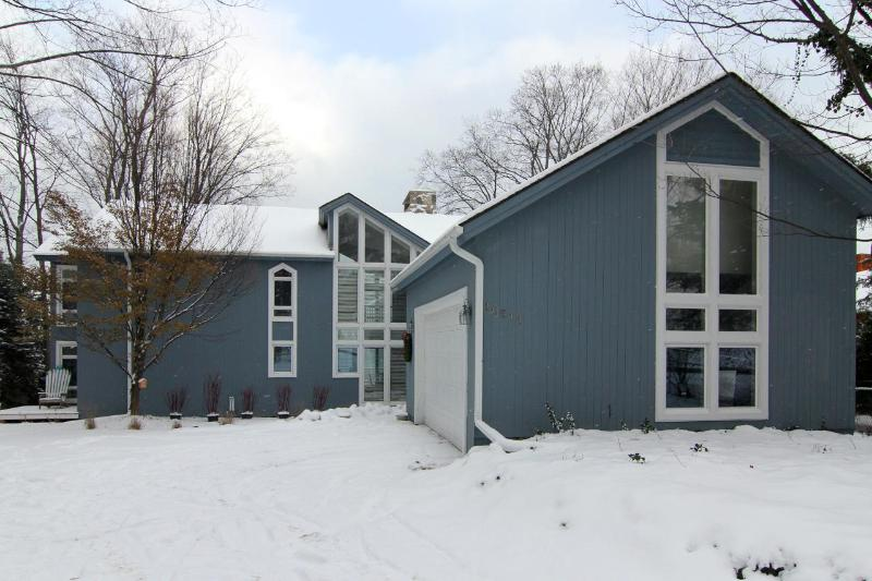 View from the road - Blue Shore House - Large West Bay Beach House - Traverse City - rentals