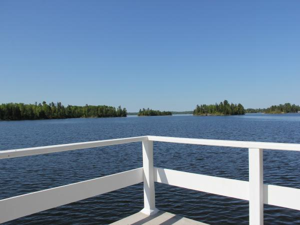 View of Lake of the woods from the boathouse deck - Beautiful Cottage on Lake of the Woods, Kenora - Kenora - rentals
