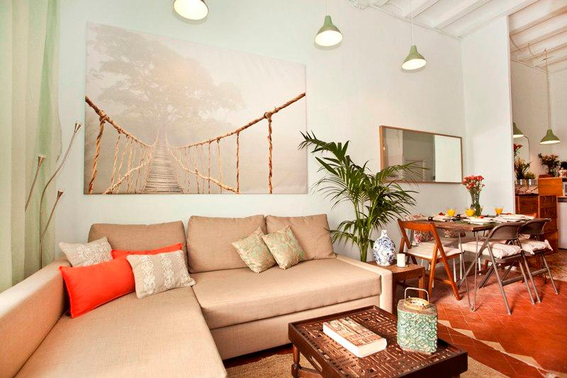 Living area  - Charming apartment in Sant Antoni! - Barcelona - rentals