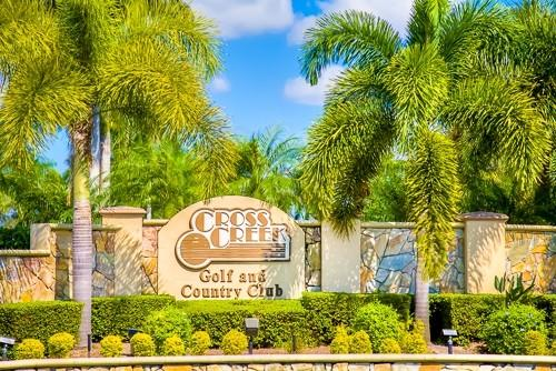 Entry Sign - Cross Creek 103 - Fort Myers - rentals