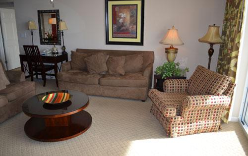 Living room with balcony access - Fantastic 3BR Yacht Club condo @ Barefoot! 2-503 - North Myrtle Beach - rentals