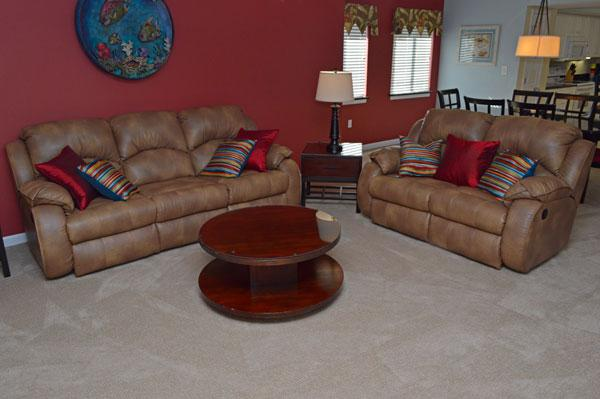 Well appointed living room with patio access - Beautiful 3BR family condo @ Yacht Club! 3-105 - North Myrtle Beach - rentals