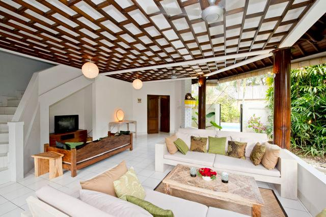 Living room - Gorgeous, spacious villa w pool 5 mnt from Echo Beach - Kerobokan - rentals
