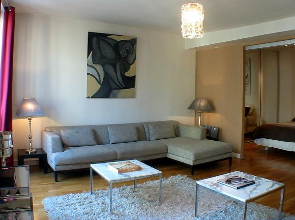 Living room - Grands Boulevards -  Bright 1 bedroom apartment - Paris - rentals