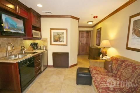 A bright Westgate condo, for up to 4 guests, offers a master suite, steam shower and gourmet kitchenette. Queen size sleeper sofa in living area. - Westgate 1 Bedroom Cascade - Park City - rentals