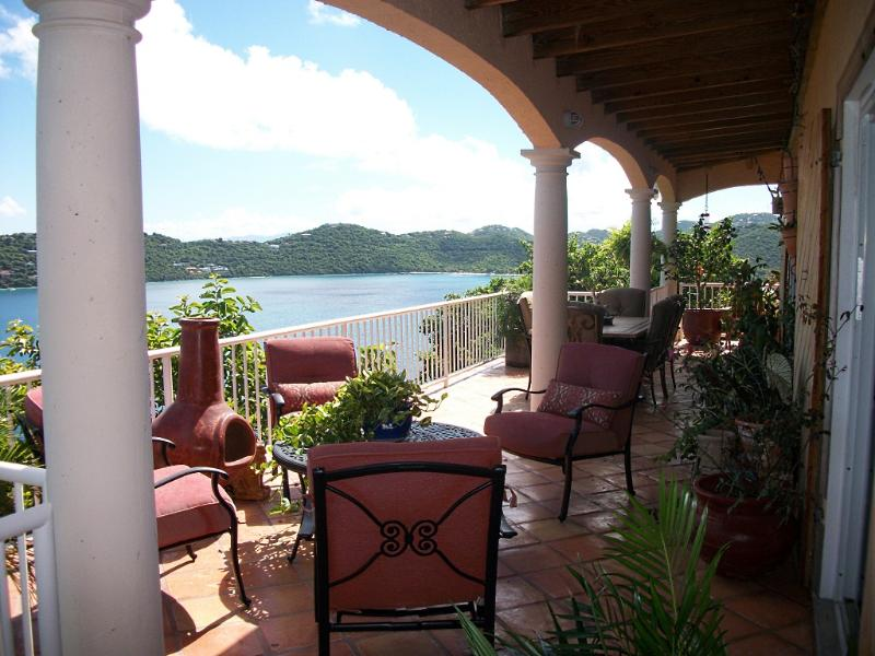 view of Magen's Bay from porch - Sugar Bird Cove - Beachfront/Magens Bay view villa - Saint Thomas - rentals