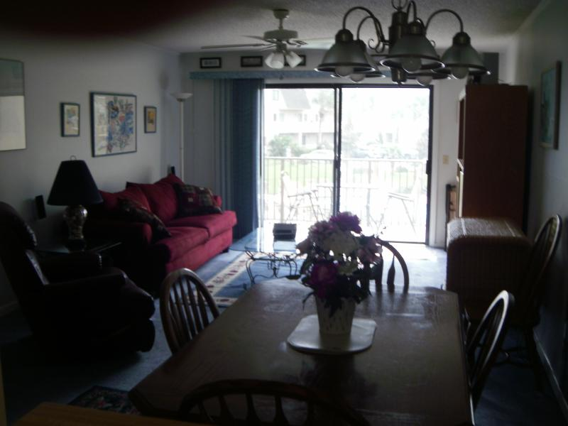 Family,  TV room - Beautiful  2 Bed/ 2.5 Bathroom Oceanview Townhouse located on St. Augustine Beach - Crescent Beach - rentals