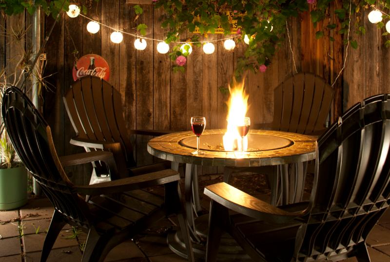Outdoor Firepit and Chairs - Private Hideaway Near Downtown - San Diego - rentals