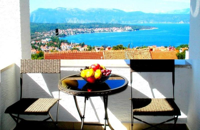 The view of the sea from the teracce - Great sea view, Malinska, Island Krk - Malinska - rentals