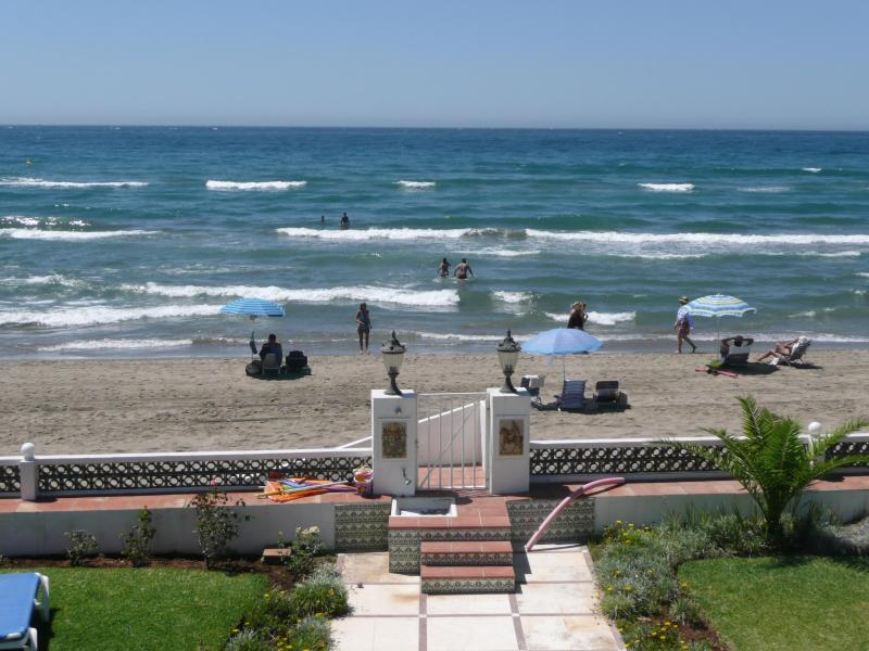 """View from the Villa terras to the see - First Line Beach Villa Marbella, on """"Golden Beach"""" - Marbella - rentals"""