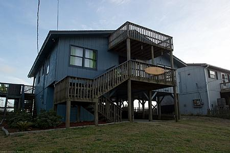Street Side Exterior - Ball Cottage, 608 N Shore Dr. ~~~Save $140!!!~~~ - Surf City - rentals