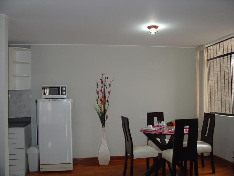 Dining Room - FULLY FURNISHED 1-BEDROOM APARTMENT MIRAFLORES 202 - Miraflores - rentals
