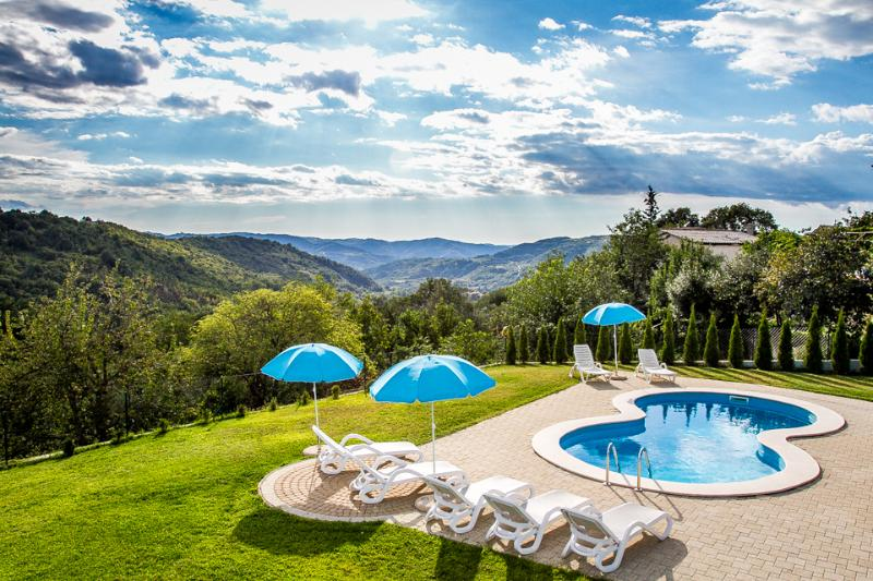 FIRST SOLAR-HEATED SWIMMING POOL IN CENTRAL ISTRIA - Image 1 - Buzet - rentals