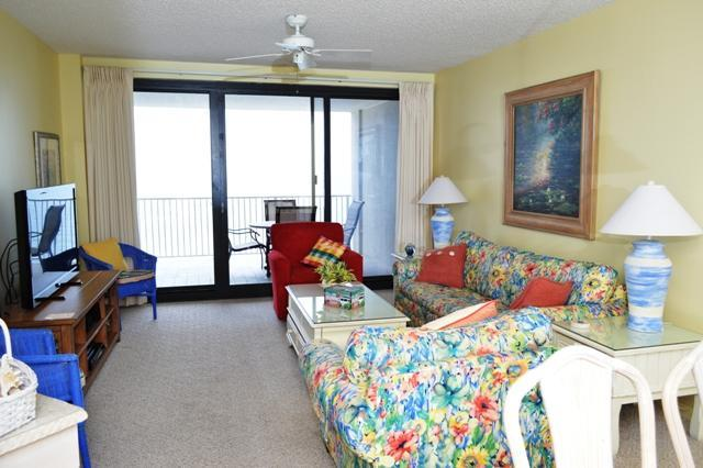 Living Room w/60 inch LED TV with surround sound and Bluetooth - Windward Pointe; Gulf front BIG TVs, FREE wifi - Orange Beach - rentals