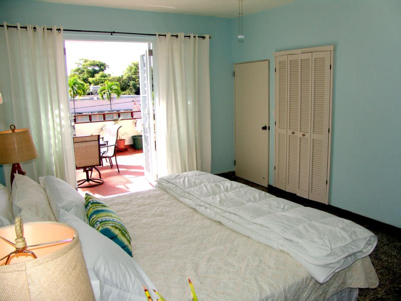 Master Bedrrom with access to large outdoor terrace - Casa Marquesa: 2nd floor apartment! Sleeps 7-11 - San Juan - rentals