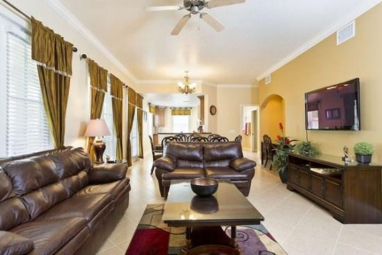 Living Room - Reunion-Kissimmee-3 Bedroom-Condo-R104 - Loughman - rentals