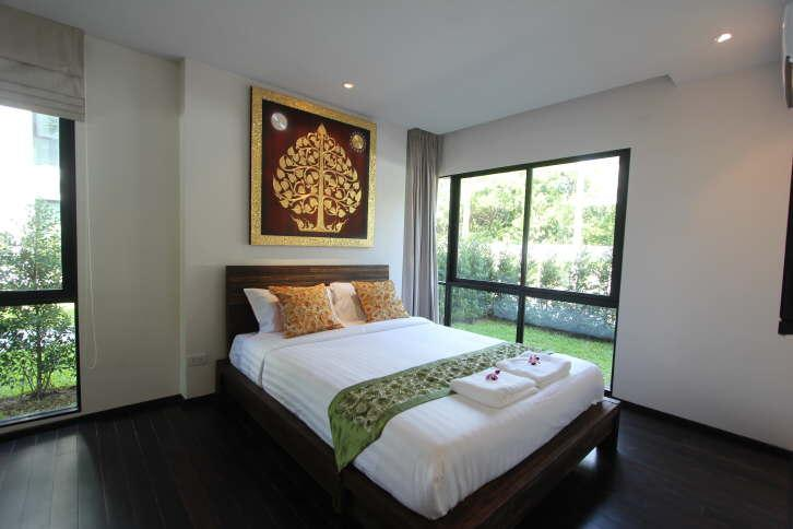 stylish bed room with air con and TV - Zen Space beach front apartment - Rawai - rentals