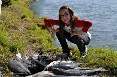 Private shoreline salmon fishing. - Kenai River Cabins at Sterling, Alaska - Sterling - rentals