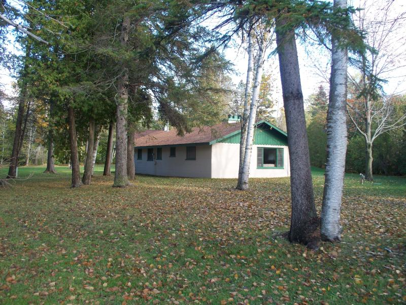 View of cottage from Lake - Cottage on Mullett Lake with big yard - Cheboygan - rentals