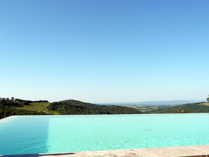 The fantastic view from the infinity pool - Beautiful apartment with views and pool - Casole D'elsa - rentals