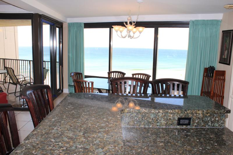 View from the kitchen - 3 bedroom recently remodeled Beachside One condo - Sandestin - rentals