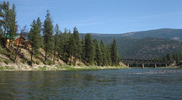 River view above lodge - Clark Fork River Lodge - St. Regis - rentals