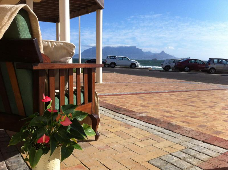 Outside View from Room 4 - Beach Front Self Catering Guest Accommodation in Bloubergstrand - Bloubergstrand - rentals