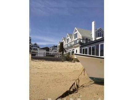 View up from the beach - 1 BR Panoramic Beachfront Townhouse Downtown Ptown - Provincetown - rentals