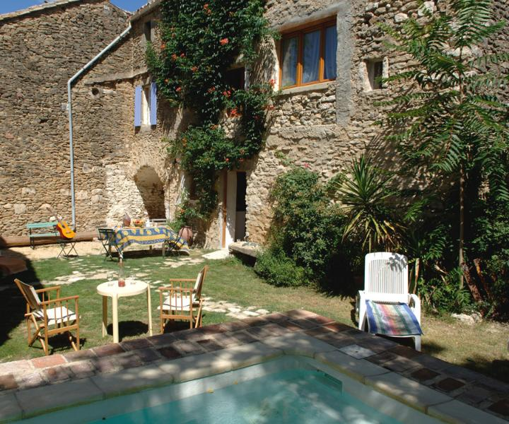 The Back Garden with pool - A Stone built house in  Old Village with Pool - Eyne - rentals