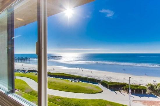 View from the living room window - Casa de Camacho Panoramic Ocean View Penthouse Condo - San Diego - rentals