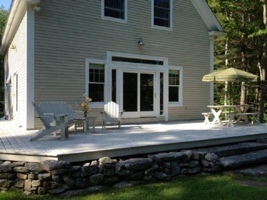The Back Deck with Furniture - Shipwright`s Cove - Brunswick - rentals