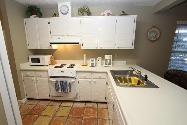 Kitchen with White Appliances - Reel Relaxing - Seagrove Beach - rentals