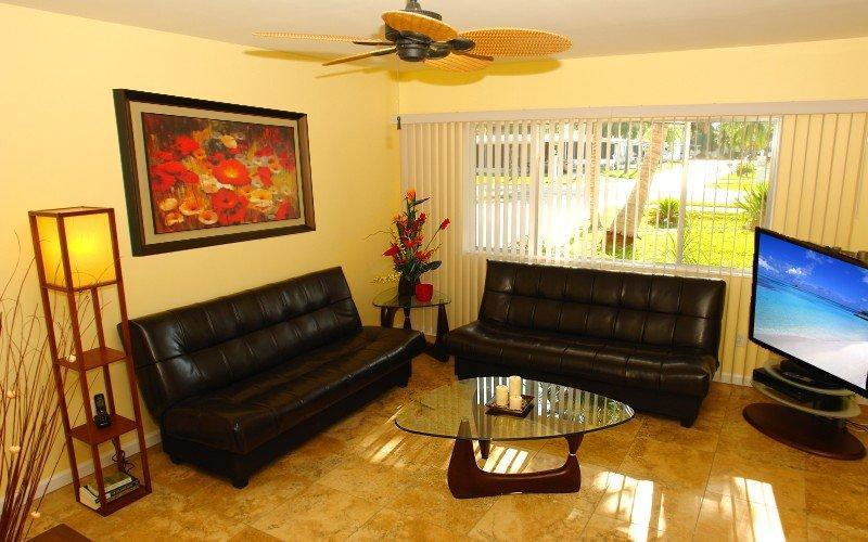Living Room with Sat Dish TV - BeachDreams - Fort Myers Beach - rentals