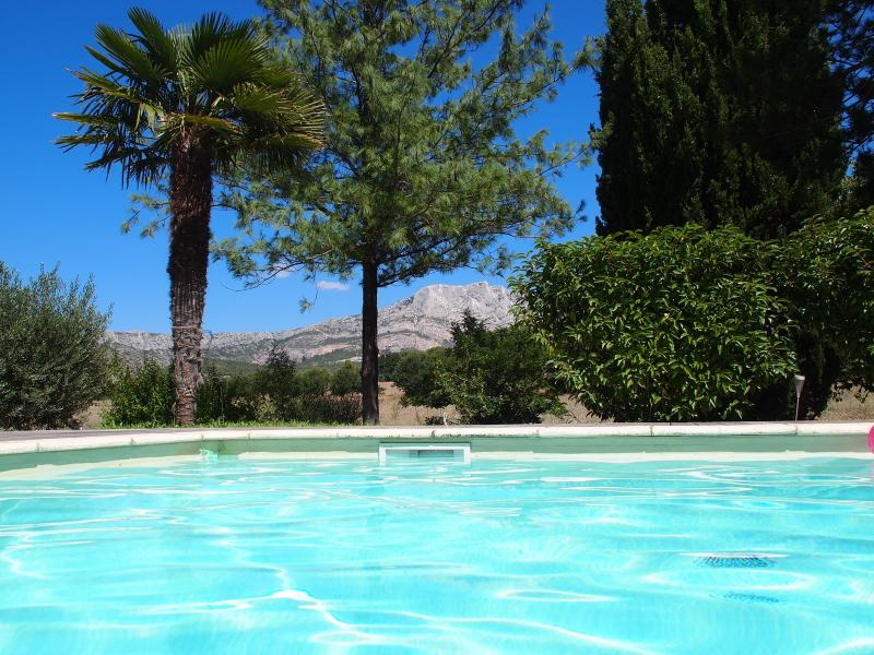 swimming pool - Villa view on the montagne Sainte-Victoire - Beaurecueil - rentals