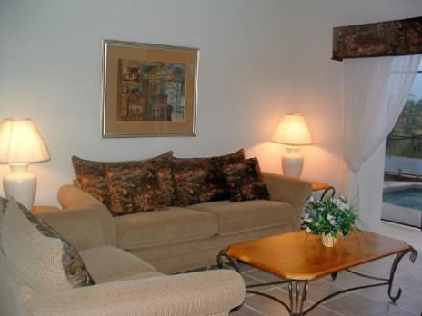 Living area  - 4 bed on Emerald Island with Lake View! - Kissimmee - rentals