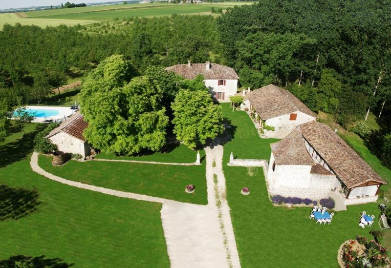 Aerial view of the property  # 1 - Gites of Pehillo - Nerac - (Aquitaine - FRANCE) - Lot-et-Garonne - rentals