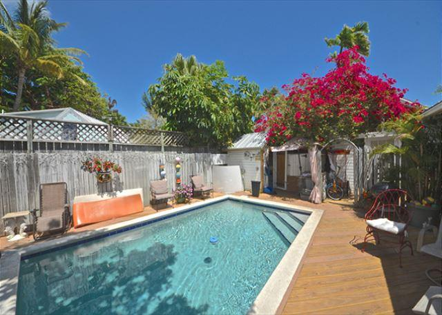 Catch Some Rays Poolside On The Loungers Provided For Your Relaxation Pleasure Or Just Relax in the Property's Shared Heated Pool - Boardwalk Loft - Monthly - Key West - rentals