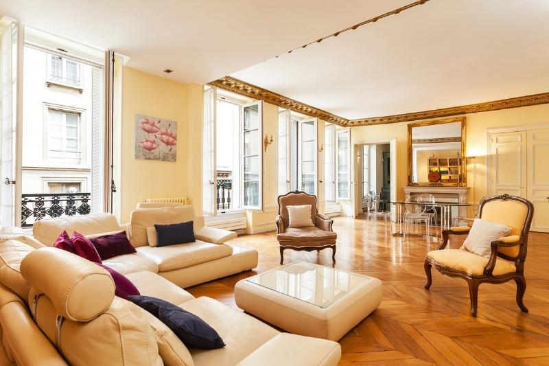 Luxurious and Light Living Room - 32. BETWEEN SAINT GERMAIN, LOUVRE AND EIFFEL TOWER - 7th Arrondissement Palais-Bourbon - rentals